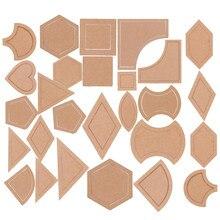 54 個各種アクリルキルティングテンプレート diy キルトパッチワーク縫製