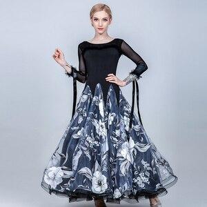 Image 1 - שמלות נשים אולם נשפים שמלת בנות סלוניים ואלס שמלת שוליים סטנדרטי חברתי שמלת ריקוד ללבוש