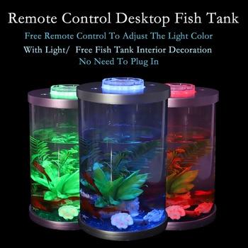 Mini Desktop Lighted Aquarium Fish Tank  2