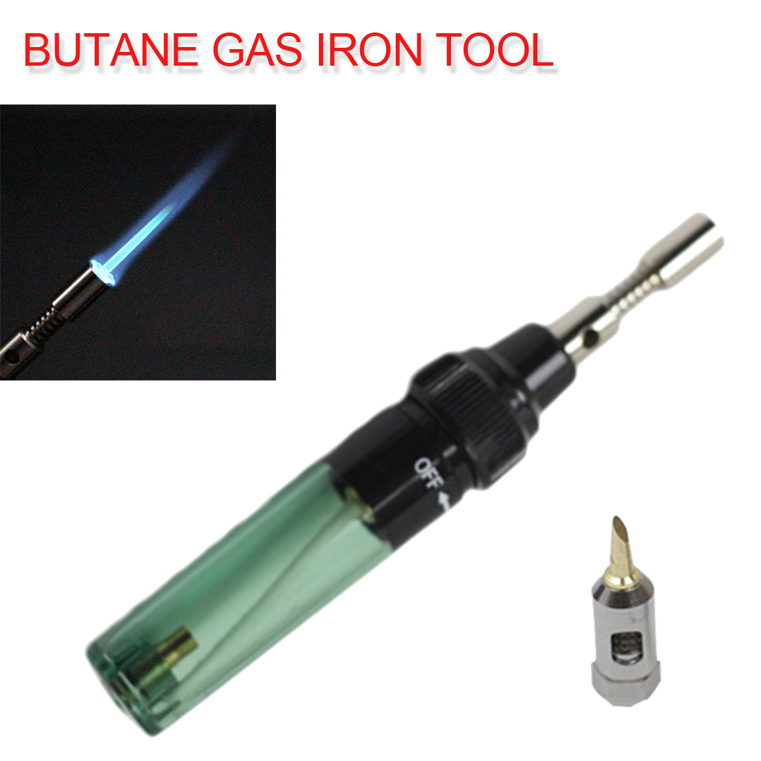 Butane Gas Soldering Solder Torch Iron Tool Pen Shaped Cordless Torch DIY/ Soldering Iron Pen Type Gas 3 In1 MT-100