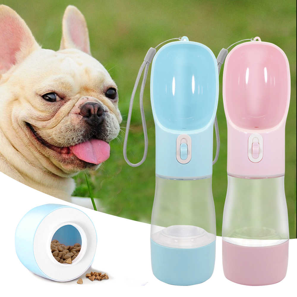 Portable Dog Water Bottle Pet Feeder Bowl For Small Large Dogs Travel Puppy Cat Drinking Bottle Outdoor Pet Water Dispenser