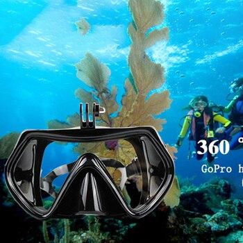 Anti niebla máscara de buceo Scuba bajo el agua al aire libre gafas correa ajustable hombres mujeres playa cámara de esnórquel para Gopro héroe