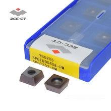 10 шт zcc отверстие сверла вставки spgt090408 pm карбидные сверлильные
