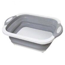 Multifunktions Faltbare Schneiden Bord Ablauf Korb Gemüse Becken Tragbare Badewanne Für Küche Obst Gemüse Waschen