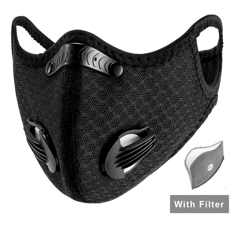 Sport Face Mask Anti Dust Pollution Pm 2.5 Mask With Filter Cycling Outdoor Respirator Facemask