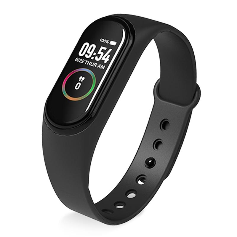 Nouveau M4 bande intelligente Bracelet montre Fitness Tracker Bracelet couleur tactile Sport fréquence cardiaque moniteur de pression artérielle hommes femmes Android
