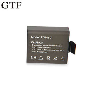GTF 3.7V PG1050mAh Action Camera Battery For EKEN H9 H9R H3 H3R H8PRO H8R SJ4000 SJCAM SJ5000 M10 SJ5000X Rechargeable batteries original standard accessories for sjcam m10 sports camera
