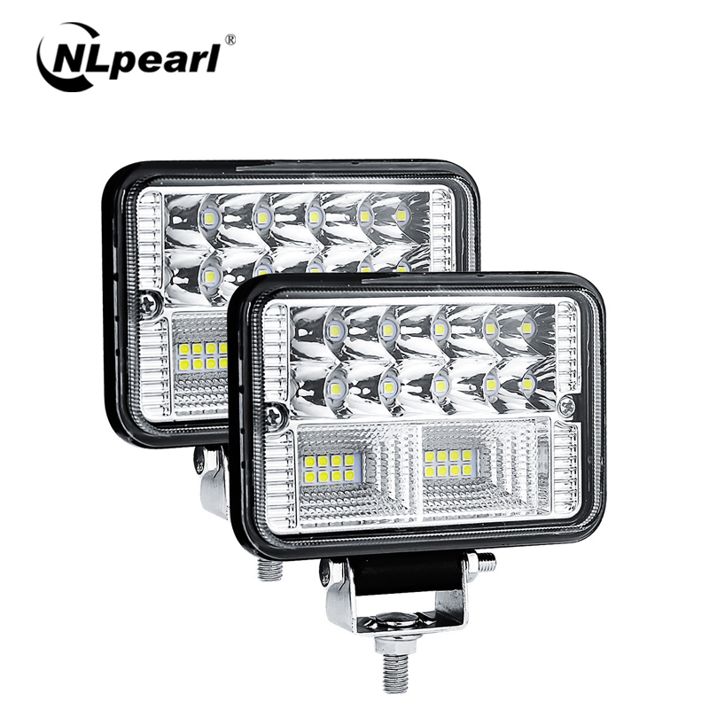 "Nlpearl 2x 4"" 78W Square LED Light Bar/Work Light 12V 24V for Cars Off Road Tractor Boat 4x4 Atv Spot Beam LED Worklight Trucks"