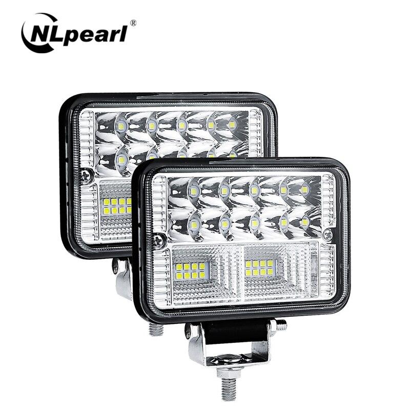 """Nlpearl 2x 4"""" 78W Square LED Light Bar/Work Light 12V 24V for Cars Off Road Tractor Boat 4x4 Atv Spot Beam LED Worklight Trucks"""