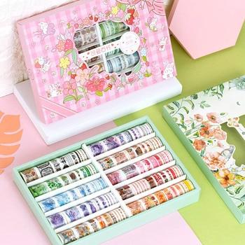 100 Pcs/Set Cute Plant Washi Tape Kawaii Animal Masking Tape Decorative Adhesive Tape Sticker Scrapbook DIY Stationery