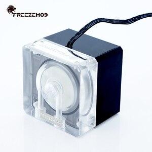 Image 2 - FREEZEMOD מחשוב קירור מחשב מים אילם קריר משאבת PWM אינטליגנטי זרימת 800L/H 12V/5V RGB אור aure. PU FS4M J