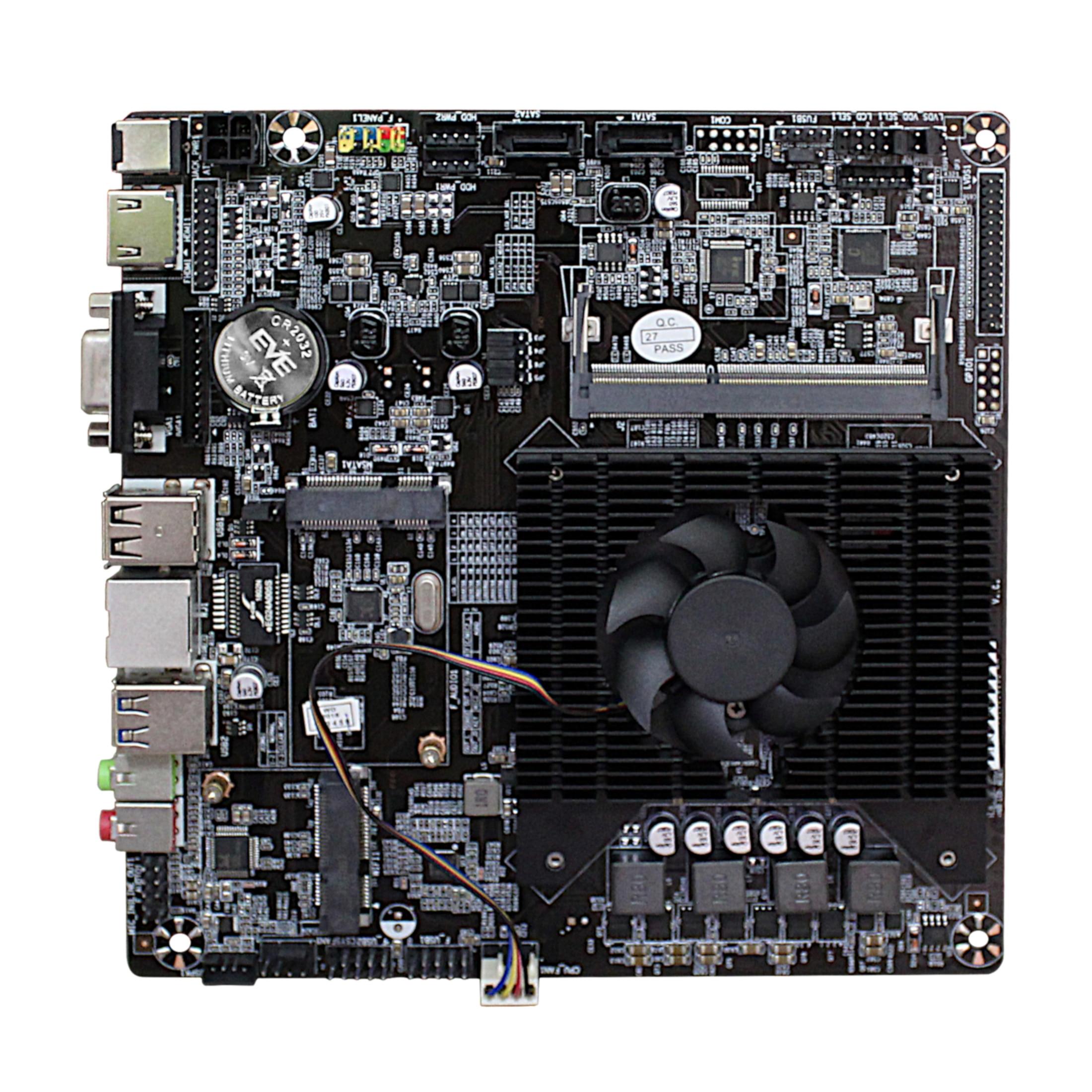 Ultra-thin Mini itx Motherboard Built in  CPU A8 6410  R5 Video Graph Processing APU USB 3.0 VGA RJ45 HDMI USB mSata Use 12V DC