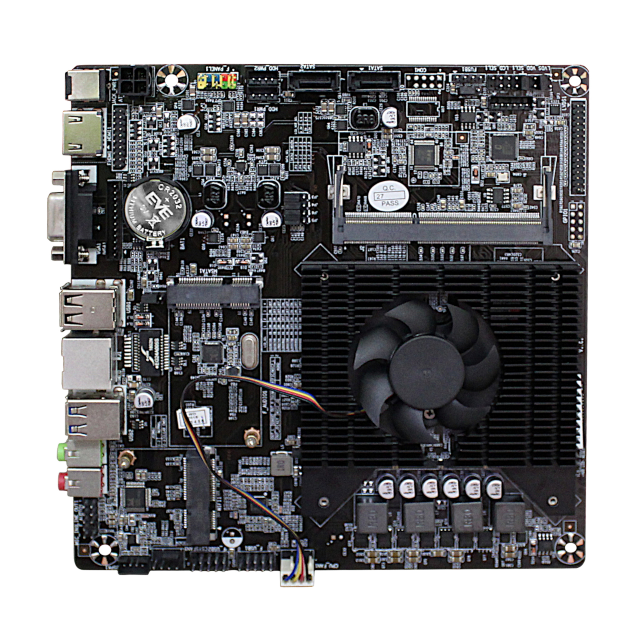 Ultra-thin Mini itx Motherboard Built in CPU A8 6410 R5 Video Graph Processing APU <font><b>USB</b></font> 3.0 VGA RJ45 HDMI <font><b>USB</b></font> mSata Use 12V <font><b>DC</b></font> image
