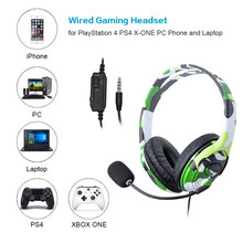 Para PS4 auriculares con cable para Gaming auriculares con micrófono para PS4 PlayStation 4 X-ONE y ordenador portátil(China)