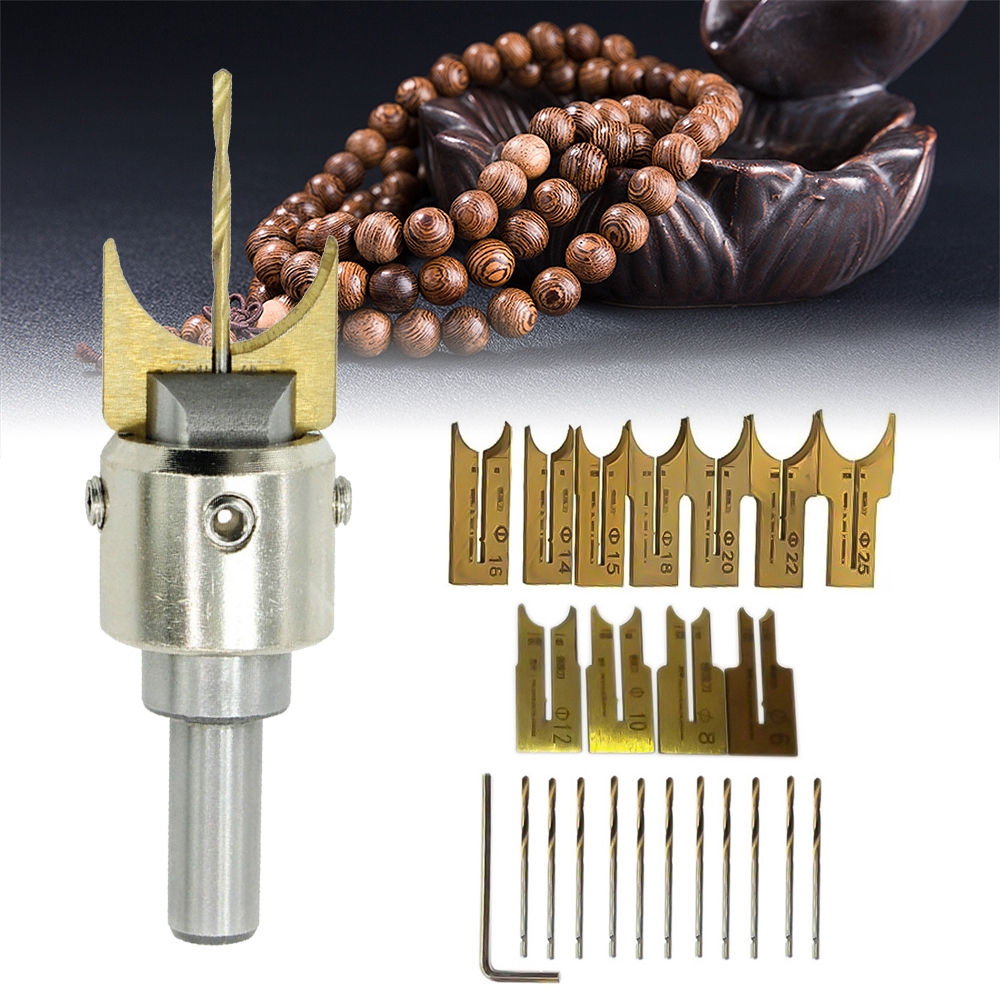 10/16/25Pcs Carbide Ball Blade Woodworking Milling Cutter Molding Tool Beads Bit Drills Bit Rosary Bead Molding Wooden Ball Base