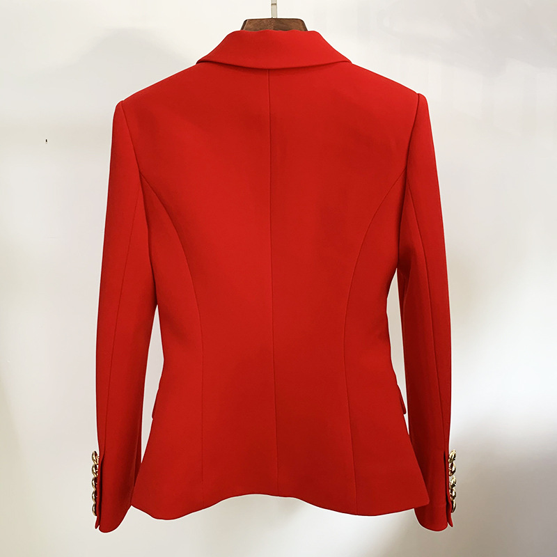 Autumn and winter women's red jacket 2020 new slim double breasted ladies business office suit Casual coat Female Blazer