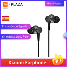 Piston d'origine Xiaomi câblé dans l'oreille écouteurs 3.5mm Version jeunesse fraîche avec micro Mi écouteurs écouteurs pour Samsung pour iPhone