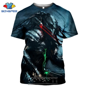 SONSPEE T-shirts Predator 3D Print Men Women Fashion Casual Hip Hop Streetwear Harajuku Funny Aliens Movie Tees Tops Shirt