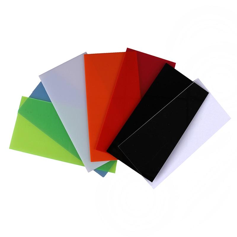 Placa acrílica transparente, placa acrílica preta/branca/vermelha/verde/laranja