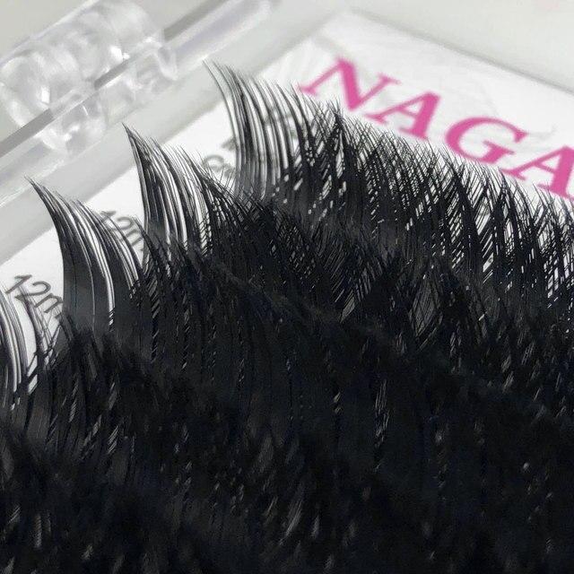 NAGARAKU Makeup V Shape Auto-Fans Eyelash Extension Volume Lashes  mega volume Cílios 0.05mm Easy-Fans Premium Natural Eyelashes 5
