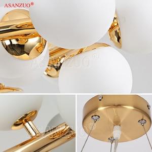 Image 5 - Lámpara colgante de araña colgante de cristal, estilo moderno, barra dorada negra, para comedor, Retro, LOFT