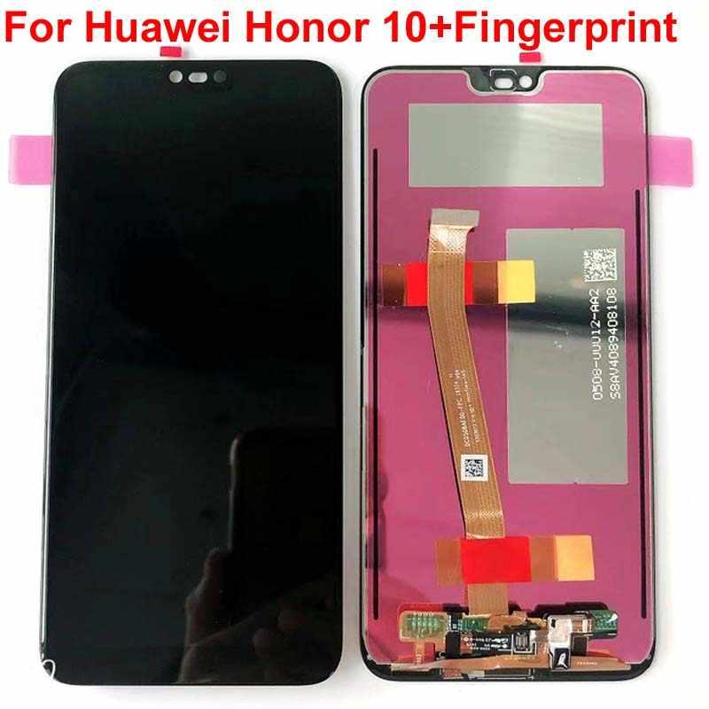 ลายนิ้วมือ 5.84 ''LCD ต้นฉบับสำหรับ HUAWEI Honor 10 จอแสดงผล LCD Touch Screen Digitizer สำหรับ Huawei honor10 COL-L29 COL-AL10