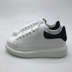 2019-20 Bianco scarpe Uomini Donne Scarpe Basse Primavera Autunno casual Scarpe Vera Pelle Scamosciata Nera Coda di Olomlb- mc Sneakers36-45