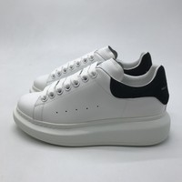 2019 20 White shoes Men Women Flat Shoes Spring Autumn Casual Shoes True Leather Black Suede Tail Olomlb mc Sneakers36 45