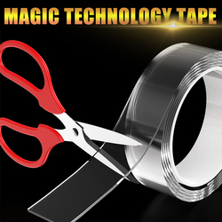 3M Nano Transparent Waterproof Tapes kinesio Double Sided Reusable For face Scotch Adhesive Siding Home Bathroom Kitchen Sticker
