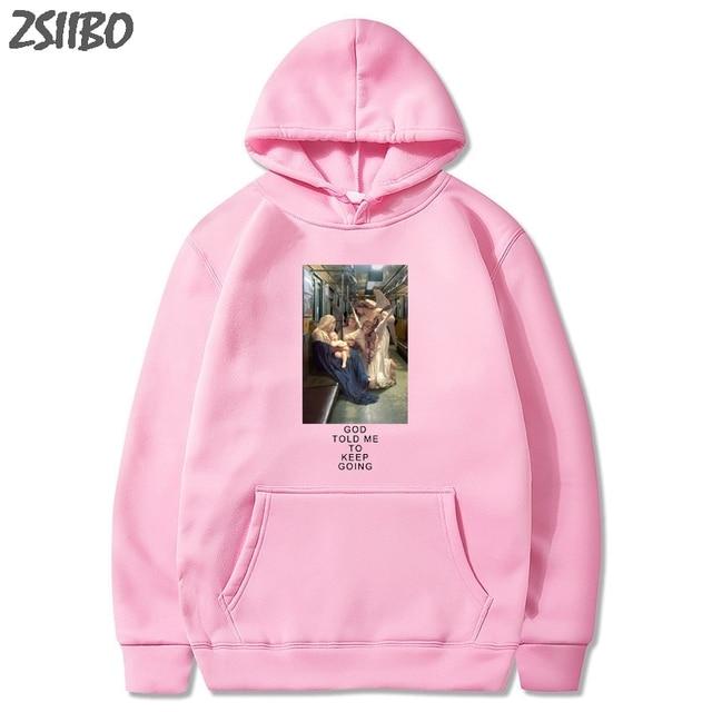 Men s Sweatshirt You Looked Like Heaven and I Felt Like Hell Printed Harajuku Unisex Hoodies Male Hooded Tops Hip Hop Streetwear
