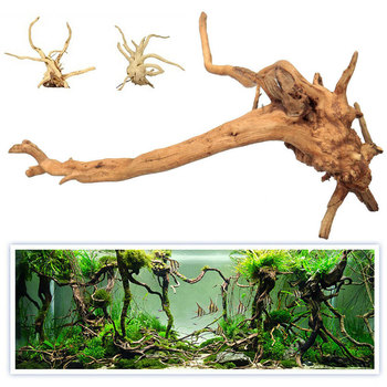 Hot Sales New Natural Tree Trunk Driftwood Aquarium Fish Tank Reptile Cylinder Making Roots Plant Wood Decoration Ornament image
