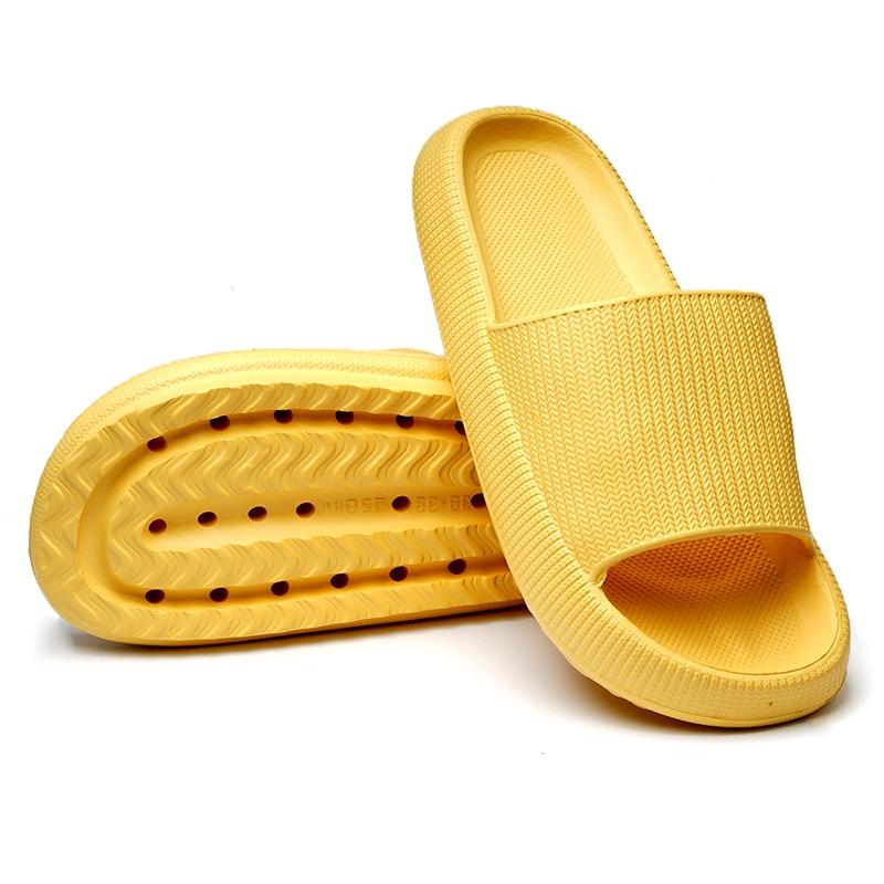 Pantoufles d'intérieur à semelle épaisse pour femmes et hommes, pantoufles de salle de bain, antidérapantes, douces EVA, chaussures d'été 6