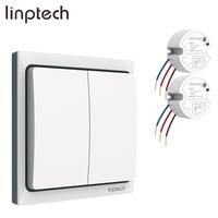 Linptech K4RW2 Kit smart wireless long range remote control light switch EU/US/UK Plug waterproof kinetic switch for bathroom