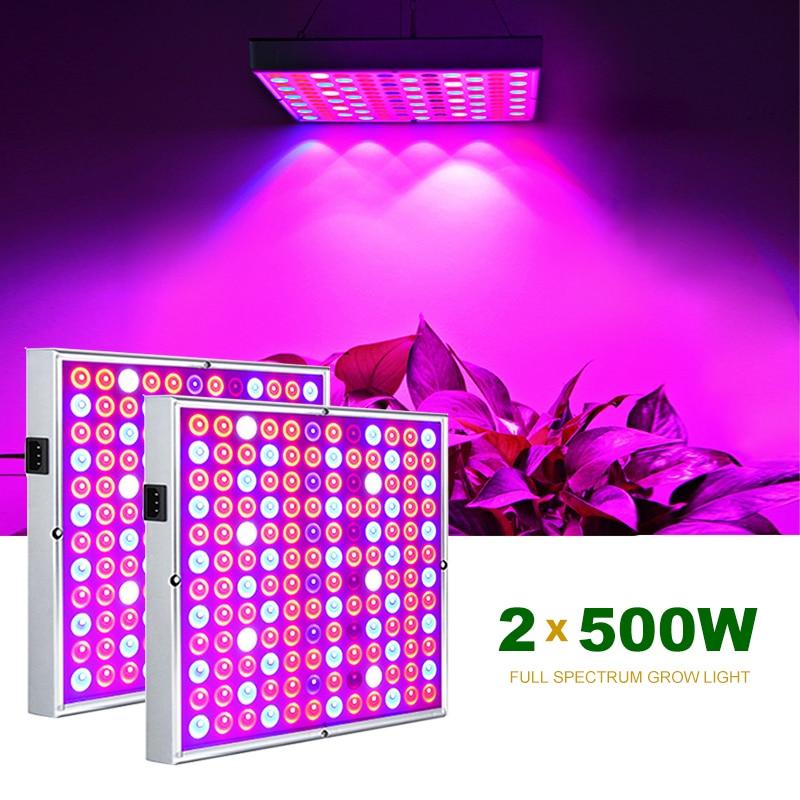 2 шт., фитолампа полного спектра для выращивания растений, 500 Вт, 100 Вт