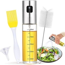 Sprayer Glass-Bottle Kitchen Goods Oil-Pot Seasoning Fuel-Injection-Bottle Stainless-Steel