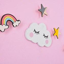 Dekoracja do pokoju dziecięcego drewniane półki ścienne chmura buźka dekoracyjne półki na ścianę dzieci dziewczyna pokój Home Decor