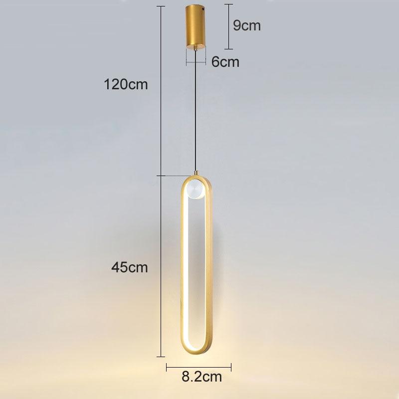 pingente lampada 45cm minimalista 12w led pendurado 05