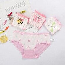 Children's Underwear Panties Briefs Teenage Baby-Girls Kids Cotton Cartoon Comfortable