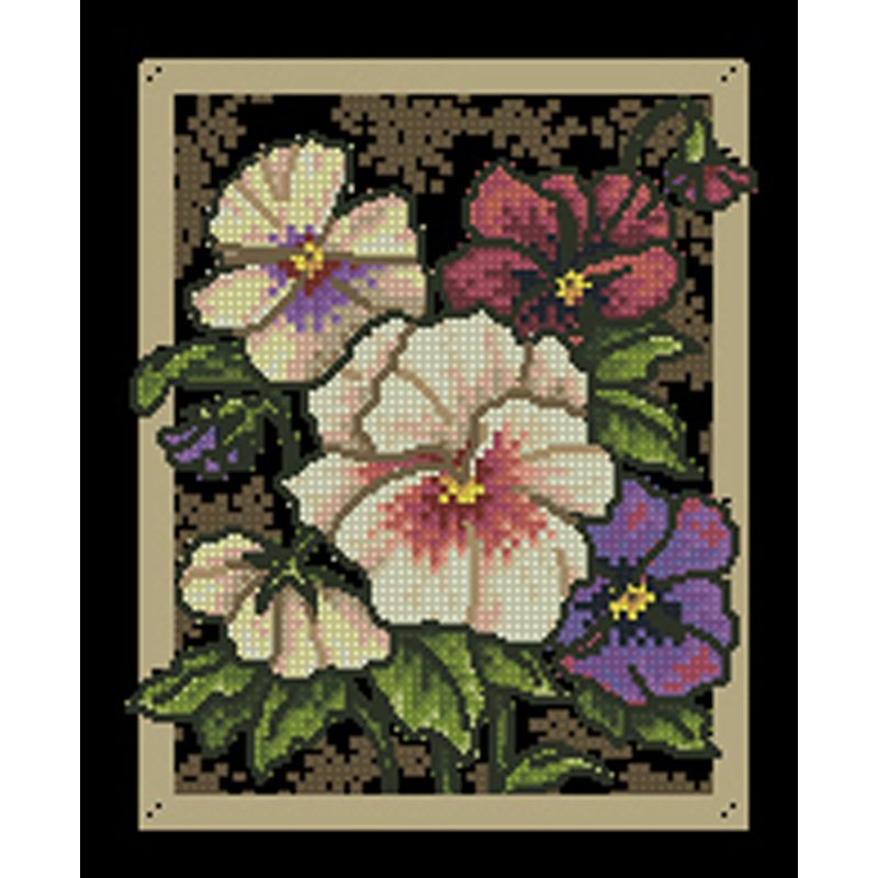 Counted Cross Stitch Kit ROMANTIC FLORAL Dimensions Gold Collection
