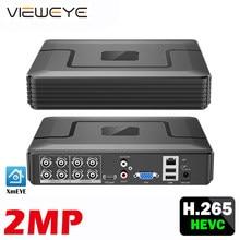 XMeye visage détecter Audio H.265 + Hi3521D 5MP 8CH 8 canaux Surveillance enregistreur vidéo hybride WIFI 6 en 1 TVI CVI NVR AHD CCTV DVR