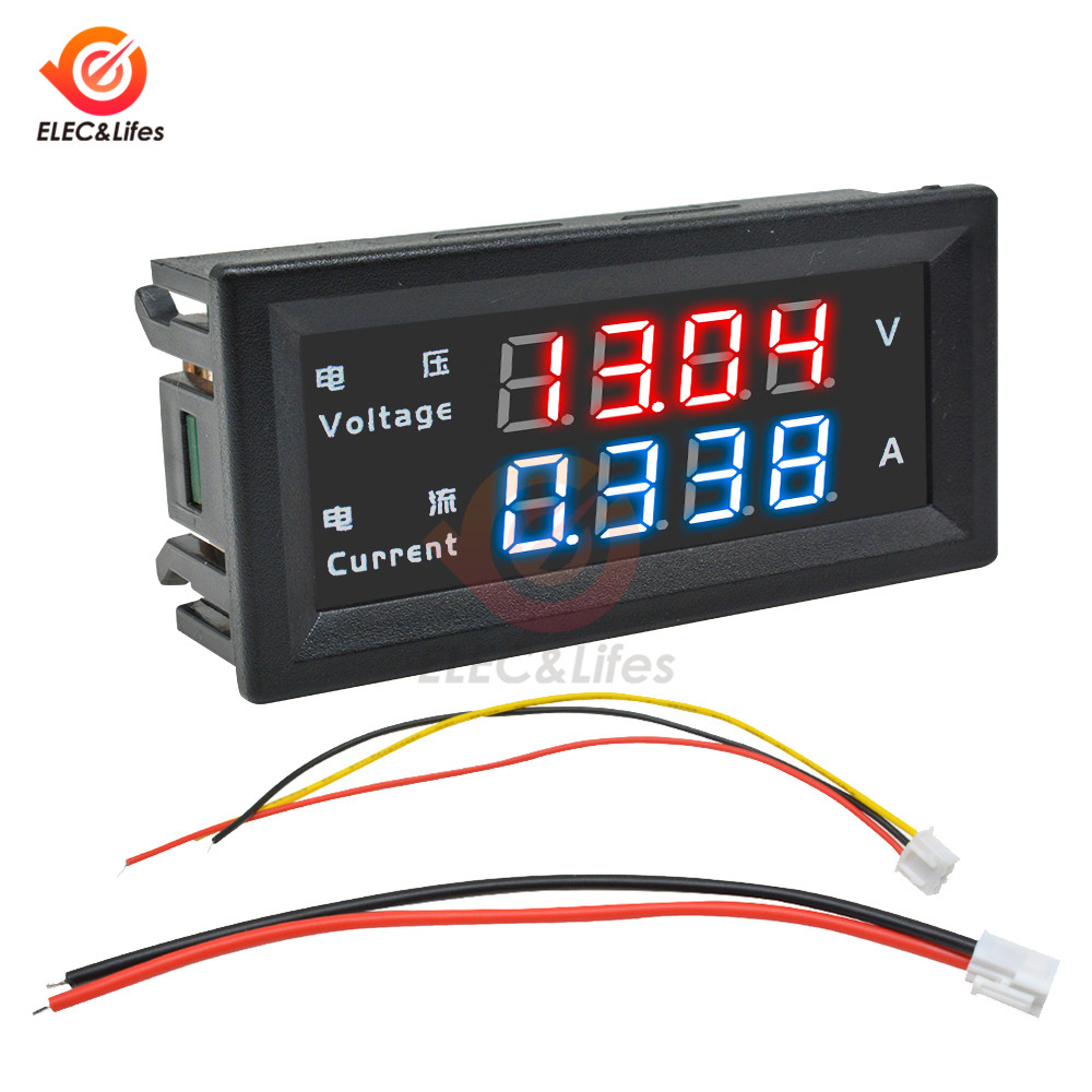 M4430 DC 100 в 200 в 10A электронный цифровой вольтметр Амперметр 0,28 ''светодиодный дисплей регулятор напряжения Вольт Амперметр тестер