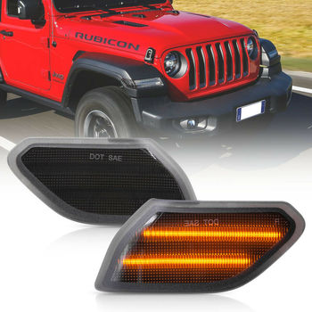 Smoke Lens Amber Led Front Side Marker Light for 2018-up Jeep Wrangler JL Gladiator JT 2pcs Full Led Turn Signal Lamps цена 2017