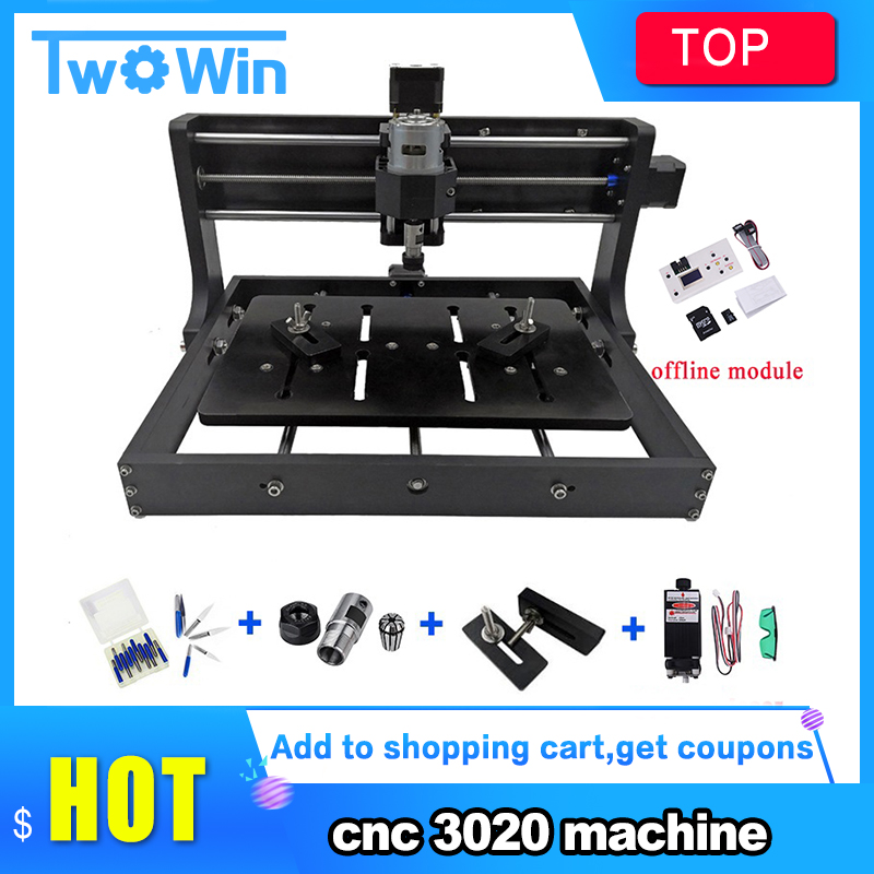 CNC 3020 Diy Mini Machine 3 Axis Pcb Milling Machine,Wood Router, Laser Engraving With GRBL Control Offline Best Advanced Toys