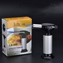 BBQ Kitchen Torch Jet Lighter Flame Spray Gun Butane Gas Lighter Refillable Fuel Welding Gasoline Lighter Outdoor Big Firepower