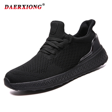 Summer Men Casual Shoes 2019 Mesh Breathable Comfortable Lace Up Man Shoes White Black Red Zapatillas Hombre Plus Size 39-46