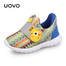 UOVO Baby Toddler Casual Shoes Boys Girls Spring Breathable Little Kids Footwear Hook-And-Loop Size #22-30