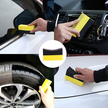 Car Professional Tyre Tire Dressing Applicator Curved Foam Sponge Pad Auto Care Tools Accessories