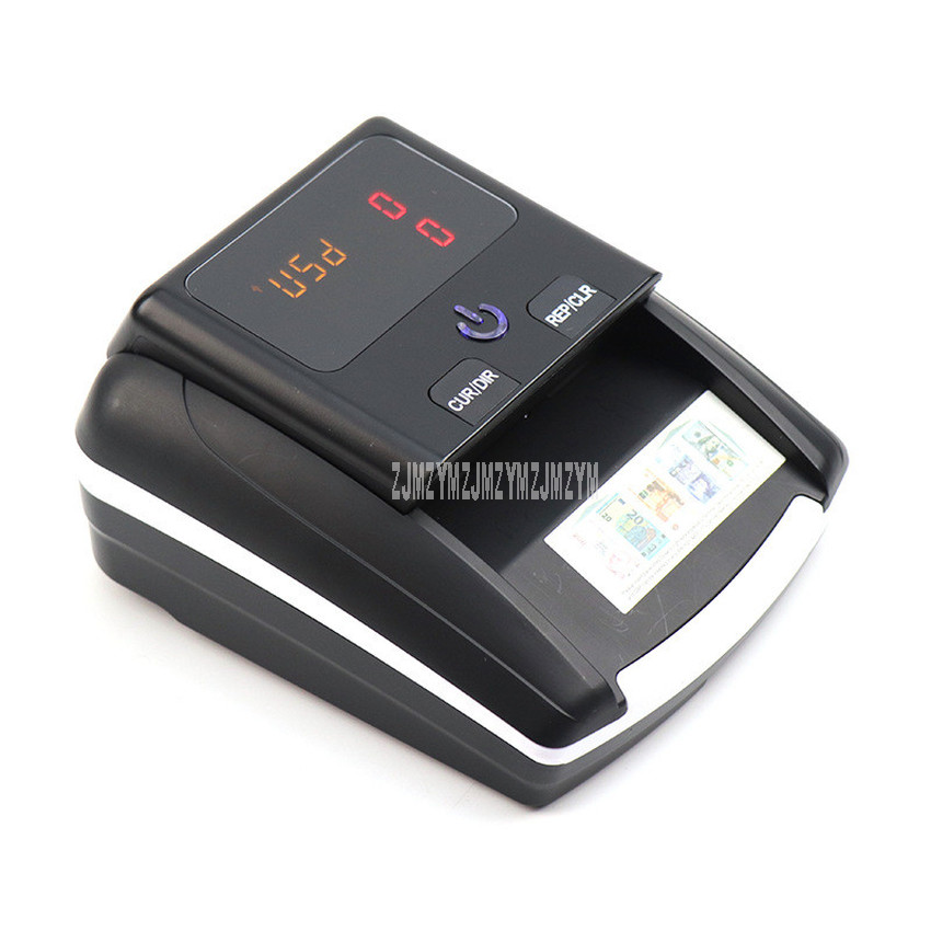 mini portatil falso detector de notas quantidade total exibicao euro usd conterfeit uv moeda dinheiro detector