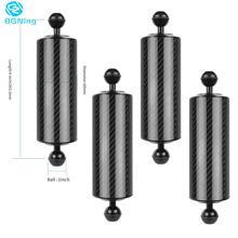 Atualize braço de extensão flutuabilidade fibra carbono dupla bola 1 polegada com clipe adaptador para gopro para câmeras osmo ação slr