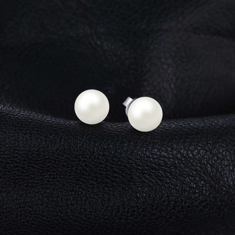 JewelryPalace 925 Sterling Silver 6.5mm Nước Ngọt Nuôi Cấy Ngọc Trai Nút Bóng Stud Earrings Đối Với Phụ Nữ Như Quà Tặng Tốt Nhất Jewerly
